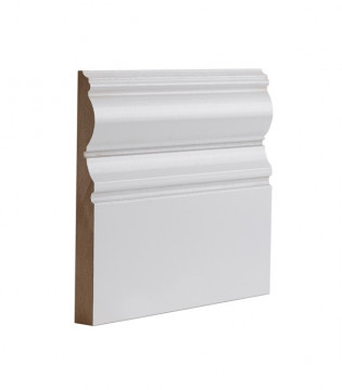 Image of White Primed Victoriana Skirting