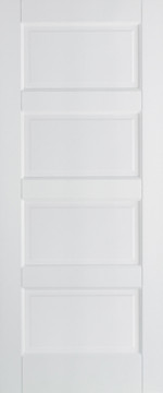 Image of CONTEMPOARY  FIRE DOOR WHITE PRIMED