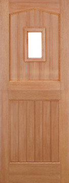 Image of Stable 1 Light Arched Hardwood Door