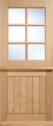Stratford 6 Light Stable Engineered Oak Door