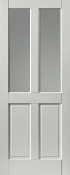 Image of Colonial 4 Panel Glazed Extreme Prefinished White Door