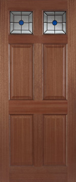 Image of Colonial Toplight Hardwood Door