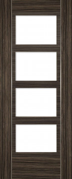 Image of Calgary 4 Glazed Abachi Wood FD30 Door