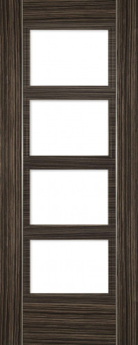 Calgary 4 Glazed Abachi Wood FD30 Door image