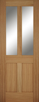 Image of Bristol Shaker Glazed Clear Oak FD30 Door