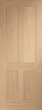 Image of Victorian Shaker Oak Door