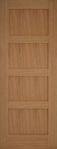 Contemporary 4 Shaker Oak Interior Door image