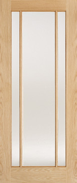 Image of Lincoln Glazed Clear Oak Interior Door