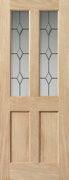 Image of Churnet Glazed Leaded Oak Interior Door