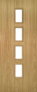 Image of Galway Crown Cut Glazed Oak FD30 Door