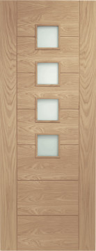 Image of Palermo 4 Glazed Oak FD30 Door