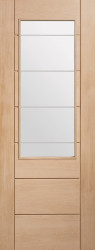Palermo 2 XG Glazed Oak Door