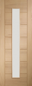 Image of Palermo 1 Glazed Oak FD30 Door