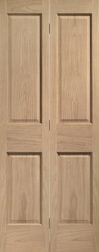 Image of Victorian Oak Bi-Folding Doors