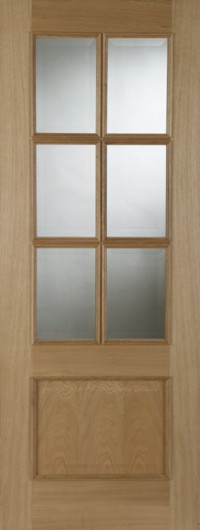 Iris 6 Light RM Oak Interior Door image