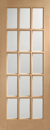 SA 15 Pane Glazed Oak Interior Door image