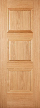 Image of Amsterdam 3 Panel Oak FD30 Door