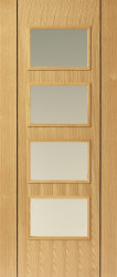 Blenheim 4v6 Oak Flush FD30 Door