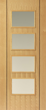 Image of Blenheim 4v6 Oak Flush FD30 Door