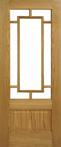 Orient Glazed Oak Interior Door Pair image