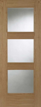 Image of Chelsea 3L Glazed RM Oak FD30 Door