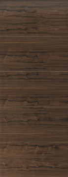 Image of Lara Grooved Walnut Flush FD30 Door