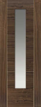 Image of MIstral Glazed Grooved Walnut Door
