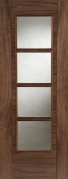Image of Iseo 4V Glazed Walnut FD30 Door